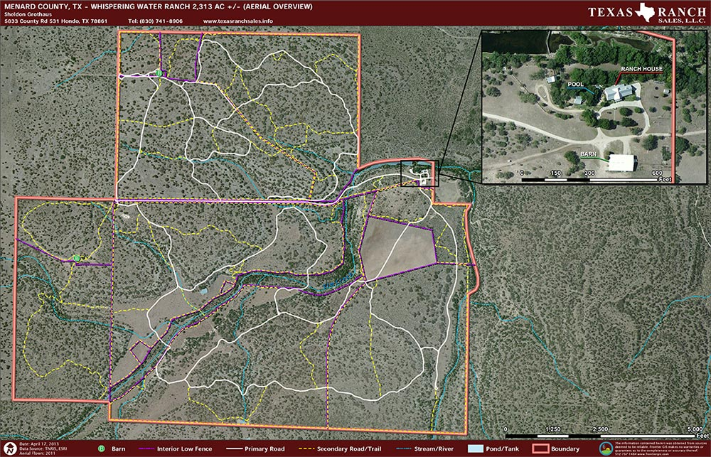 2313 Acre Ranch Menard Aerial Map