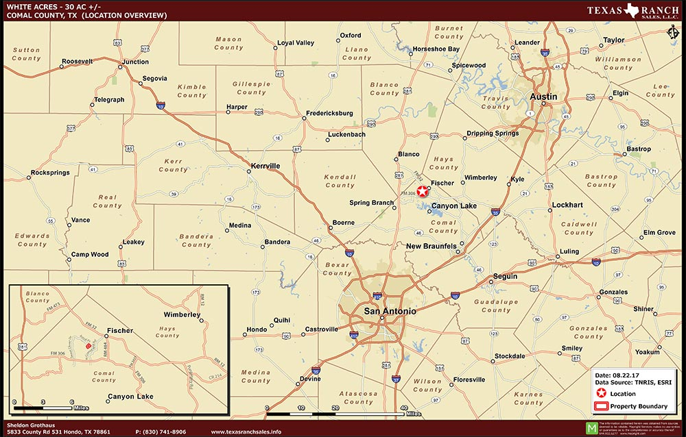 30 Acre Ranch comal Location Map Map