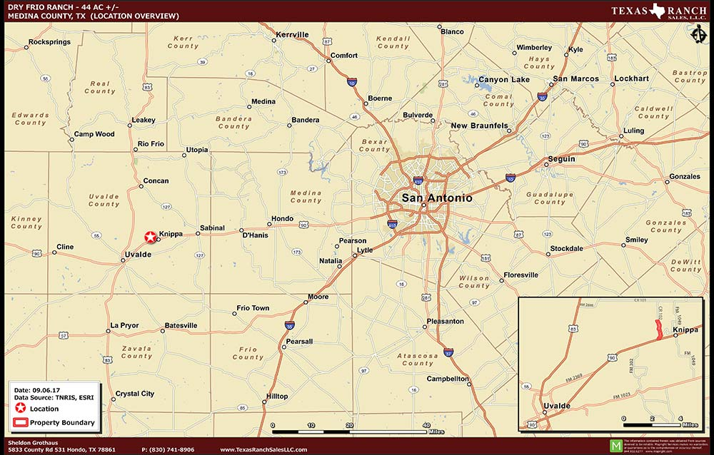 44 Acre Ranch Uvalde Location Map Map