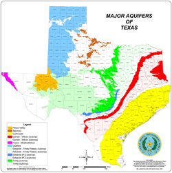 Texas Major Aquifers.
