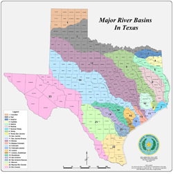 Texas Major River Basins